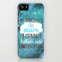 My Thoughts Are Stars iPhone & iPod Case by Tangerine-Tane