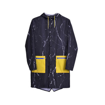 Marble Pattern Unisex Raincoat
