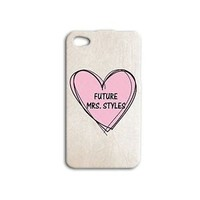Cute Future Mrs Harry Styles Pink Heart iPod Case Cover iPhone Girly Girl Cool