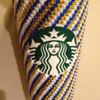 Multi Color Swirly Custom Starbucks Coffee Cup Sorority