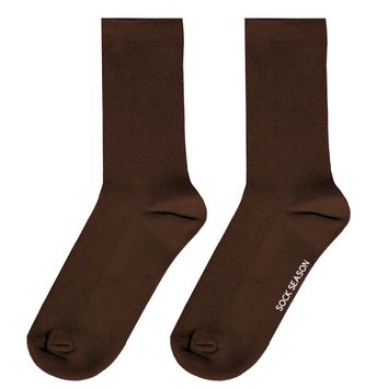 Essential Star Quality Socks | Dark Brown