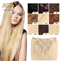 14-20 Inch Clip In Human Hair Extensions70 /100g Human Hair Remy Clip In Extensions 8Pieces/Set Remy Hair Clip Cabelo Tic Tac