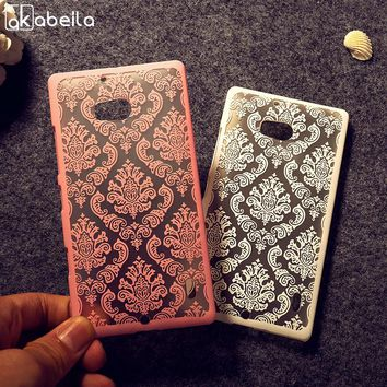 AKABEILA Cell Phone Cases Cover For Nokia Lumia 929  Bag Covers Mobile Phone Shell For Nokia 929 Plastic Hood Case Capa