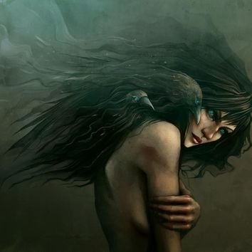 """""""She Calls The Crows"""" - Art Print by Enmi Wahlbäck"""
