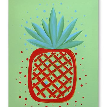 PINEAPPLE RED Canvas Art By Paint That Ugly Thing