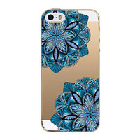 Retro Case For Apple iPhone 5 5s SE Floral Paisley Flower Mandala Henna Coque Clear Silicone Soft Cover