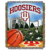 Indiana Hoosiers NCAA Woven Tapestry Throw (Home Field Advantage) (48x60)