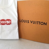 SUPREME X LOUIS VUITTON Box Logo Tshirt XL