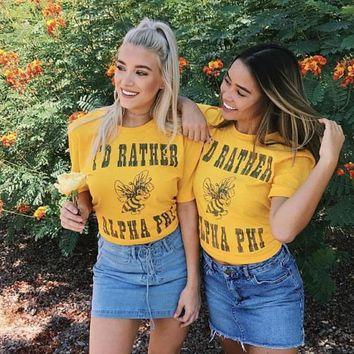 I'd Rather Bee Tee / available for multiple organizations! / greek apparel / greek sorority tshirts