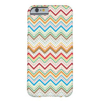 Colorful Chevron Zig Zag Stripe Polka Dots Pattern Barely There iPhone 6 Case