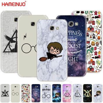 HAMEINUO Harry Potter glasses scar DEATHLY HALLOW phone case cover for Samsung Galaxy A3 A310 A5 A510 A7 A8 A9 2016 2017 2018