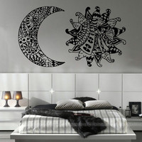 Sun and Moon Stickers Wall Decal Dual Symbol Vinyl Boho Decoration Decor SM175