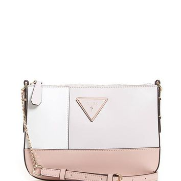 Kamryn Color-Block Logo Mini Crossbody at Guess