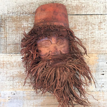 Mask Wood Mask Cypress Tree Mask Folk Art Mask Hanging Mask Garden Art Wooden Wall Decor Hand Carved Wood Wall Hanging Wood Carving Art