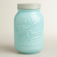 Mason Jar Ceramic Cookie Jar - World Market