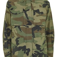 Faux Fur Lined Camouflage Shacket | Topshop