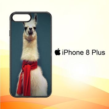 Animal Llama V0256 iPhone 8 Plus Case