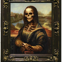 Halloween Decorations Haunted Halloween Painting Mona Lisa Large
