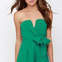 Tie it all Together Green Romper