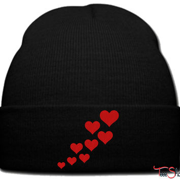 HEARTS_PXF beanie knit hat