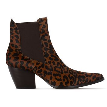 Matisse GOLDEN GATE Leopard Cheetah Leather Ankle Boots