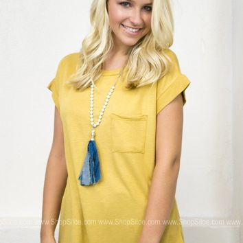 Mustard Gold Pocket Top