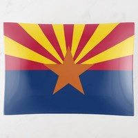 Patriotic large trinket tray flag of Arizona, USA