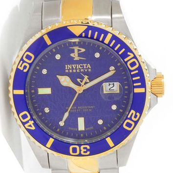 Invicta 6883 Men's Swiss Reserve 500 Meter WR Two Tone Blue Automatic Dive Watch