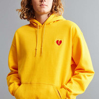 Broken Heart Embroidered Hoodie Sweatshirt | Urban Outfitters