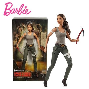 Original Barbie 2018 New Tomb Raider Limited Collection Girl Princess Birthday Present Model Doll Movable Joint Children FJH53