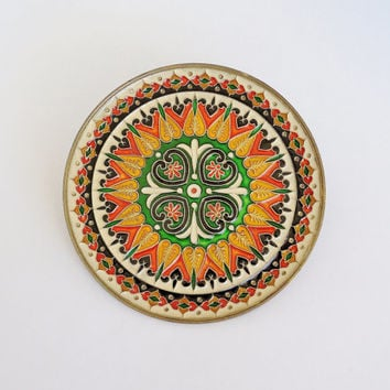 Colorful Cloisonne Enamel Brass Decorative Wall Plate
