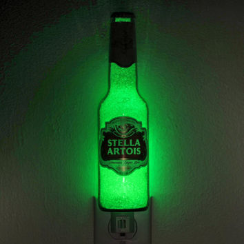 Stella Artois Beer 12oz LED Night Light Lamp Glow Bar Man Cave Light Sign Pub Fathers Day