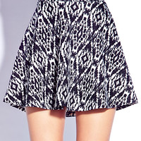 Artsy Abstract Skater Skirt