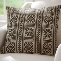 Martin Embroidered Pillow Cover