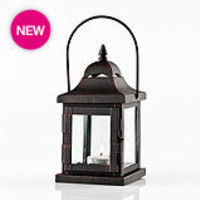 Gaby Tealight Lantern - Cream Wash