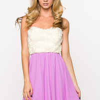 Orchid Sweatheart Rose Dress