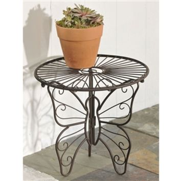SheilaShrubs.com: Butterfly Design Iron Plant Stand Table 705411 by Giftcraft: Plant Stands