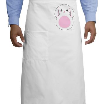 TooLoud Cute Bunny with Floppy Ears - Pink Adult Bistro Apron