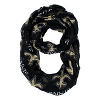 New Orleans Saints NFL Sheer Infinity Scarf