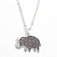Silver Plated Elephant Pendant (Brass/Silver)
