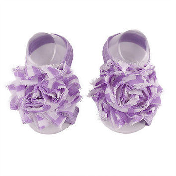 Baby Shoes Toddler Barefoot Foot Flower Sandals for 0-18M Hot Sale HU