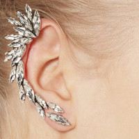 Dazzling Faux Gem Embellished Women's Ear Cuff  (ONE PIECE)