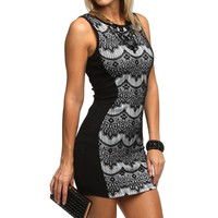 Promo-black Lace Hourglass Dress