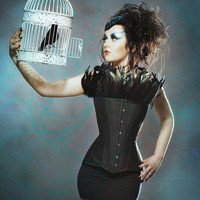 Bye Bye Blackbird Overbust Steel Boned Corset Made by GoreCouture
