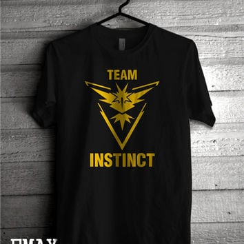 Team Instinct Tee Shirt, Pokemon Go Shirt, Pokemon Clothes, Instinct Team Shirt Pokemon Go Fans Outfit
