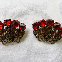 Schreiner New York Earrings Clip On Vintage