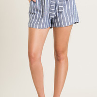 Alexa Navy Striped Shorts