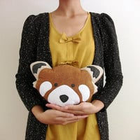 Plush Red Panda Head stuffed animal totem eco dolls - Fauna Friends Collection by Fawn and Sea - handmade with eco friendly felt & fill