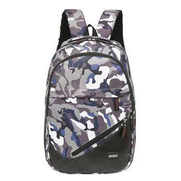Guys Camouflage Nylon Backpack