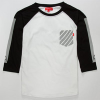 Asphalt Yacht Club Reflect Mens Reflective Baseball Tee White  In Sizes